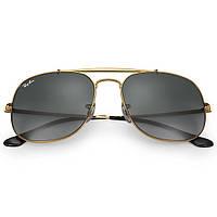 Очки Ray Ban RB 3561 General Gold стекло солнцезащитные копия, фото 1