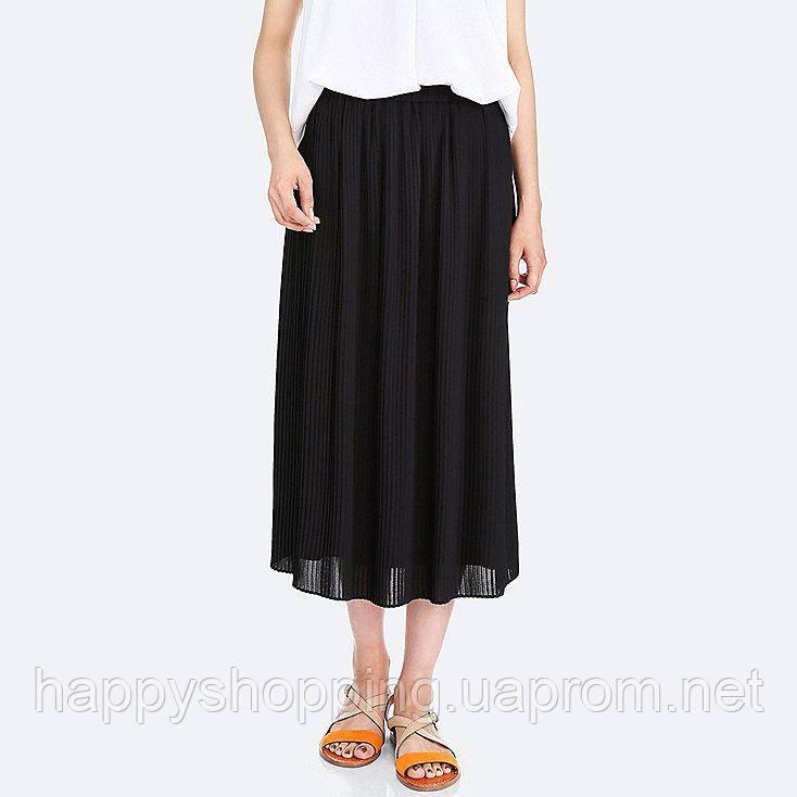 419bf7082bd Женская черная плиссированная юбка Uniqlo - Happy Shopping в Киеве