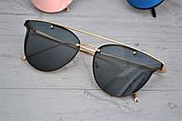 Стильные  женские зеркальные солнцезащитные очки Чёрный