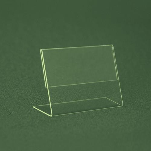 Ценникодержатель  ПВХ 0,6 мм мягкий L-образный ценник 40*30 не ломаеться и  не трескается