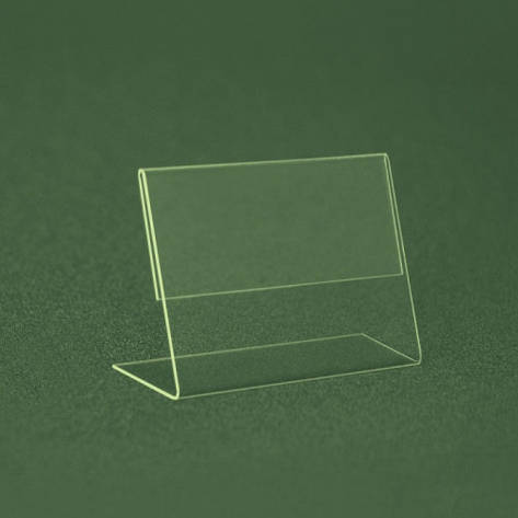 Ценникодержатель  ПВХ 0,6 мм мягкий L-образный ценник 40*30 не ломаеться и  не трескается, фото 2