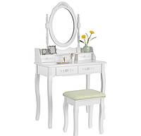 Косметический столик с зеркалом Mirka фирмы JUSKYS