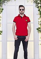 Мужская футболка спортивного стиля с контрастной окантовкой на рукавах