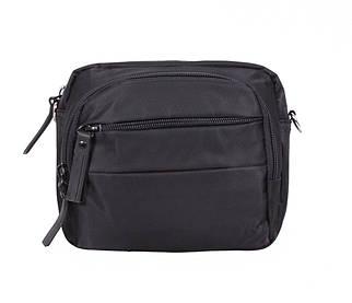 Компактная поясная мужская сумка черная PR6338-11