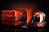 Кофр багажник Delta железный красная c шлемом