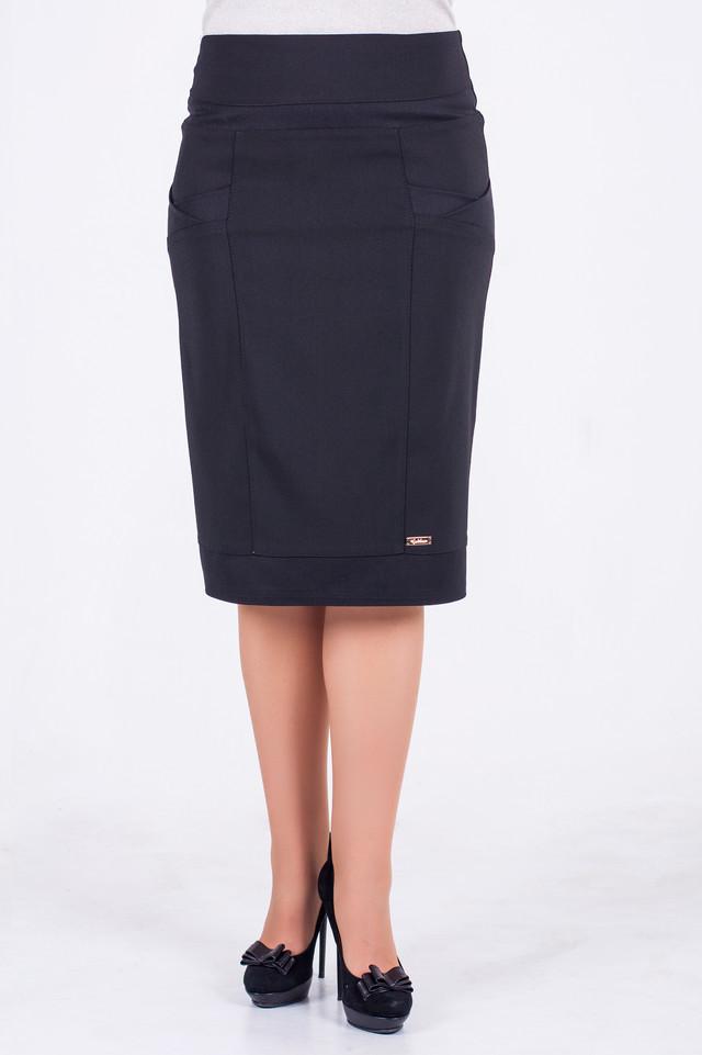 Женская юбка Ванесса черного цвета