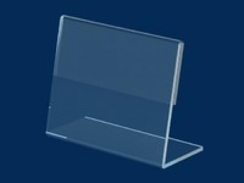 Ценникодержатель  ПВХ 0,6 мм L-образный ценник 40*50 не ломаеться и  не трескается