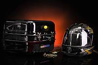 Кофр багажник Delta железный чёрная с шлемом