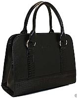 Женская кожаная сумка каркасная, фото 1