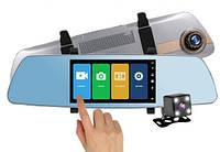 Зеркало видеорегистратор. Экран 5 дюймов + Карта памяти Micro SD Class 10  16Гб