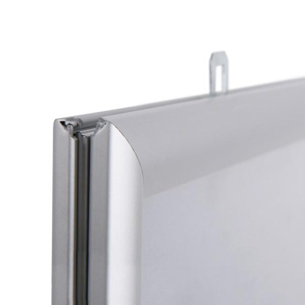 Двусторонняя клик-рамка А3 (25 мм) - Защитный пластик - Прозрачный ПВХ (0,5 мм), Угол - Острый