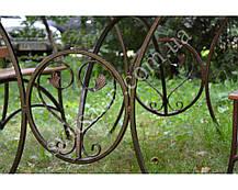 """Комплект кованой садовой мебели """" PAL"""" макси 2лавки+2стула, фото 3"""