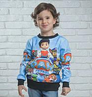 Реглан свитшот детский с героями мультфильма Щенячий патруль размеры 110- 134