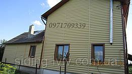 Блок-хаус сайдинг золотистий Альта-Профиль двухпереломний Львів, ціна, купити, під брус