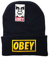 Шапка Obey черно-желтая