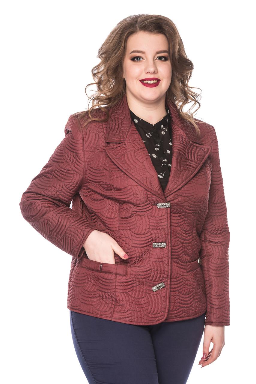 Женский демисезонный пиджак Адель бордо (50-60)