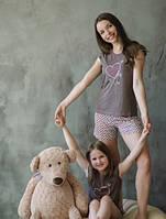 Пижама подростковая Сердце. Размер 128-164