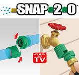Насадка перехідник для з'єднання шлангів Snap 2.0 Garden Hose Connector, фото 4