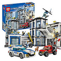 """Конструктор Lepin CITIES """"Полицейский участок""""  02020 (Lego City 60141) 965 дет."""