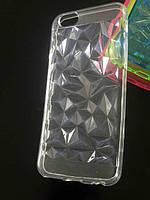 Cиликоновые чехлы для iphone 6/6s с эффектом граней камня