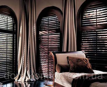 Жалюзи деревянные горизонтальные цвет wenge 50 мм