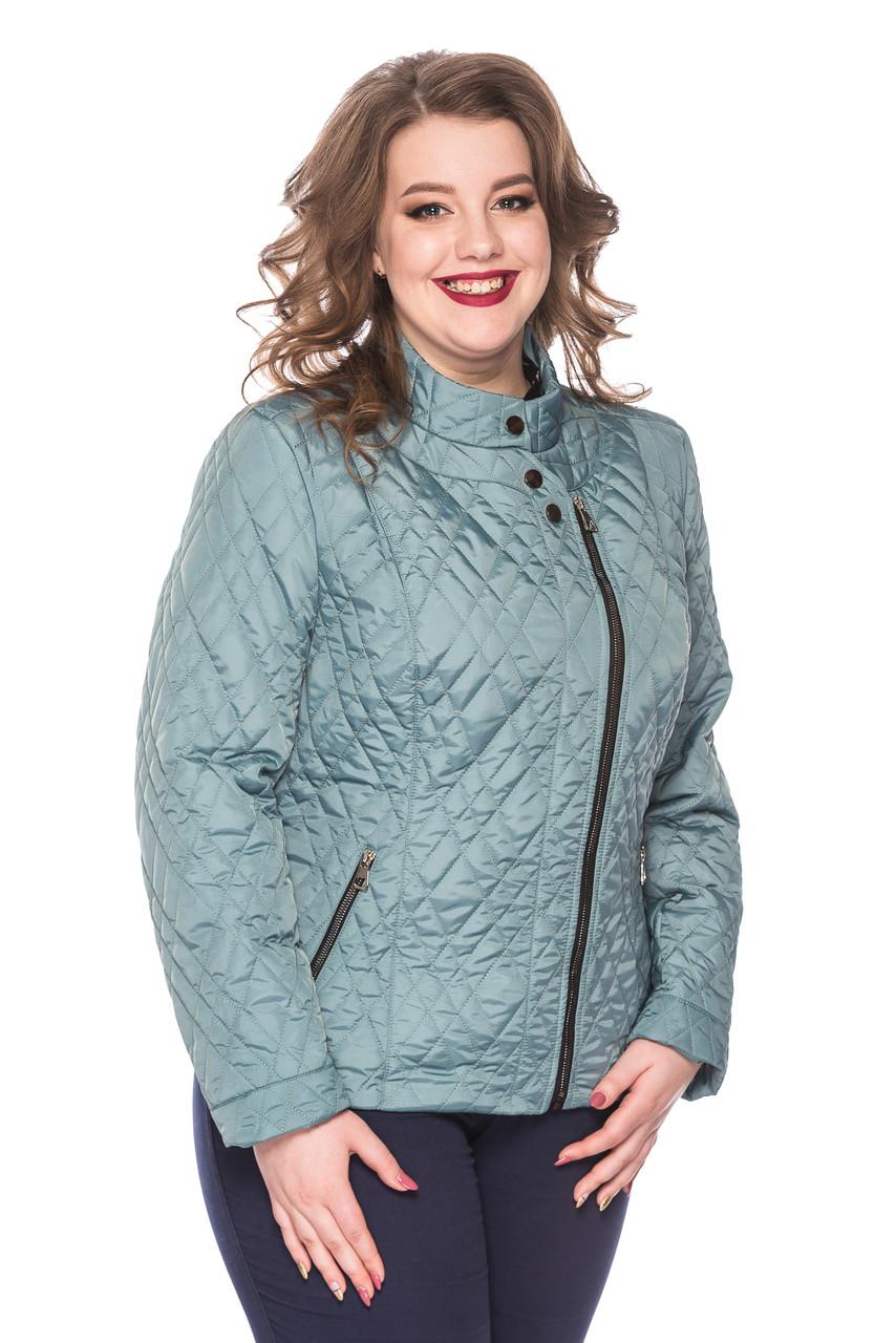 Женская демисезонная куртка Лолита голубой (50-60)