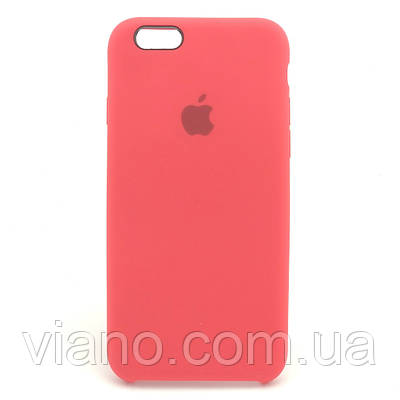 Силиконовый чехол iPhone 6 Plus/6S Plus, Apple silicone case (Красный)