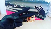Перчатки нитриловые чёрные размер S. 1шт.