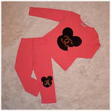 Костюм нарядный на девочку розовый с пайетками-перевертышами (Турция) размер  89 92 98 104 110 116