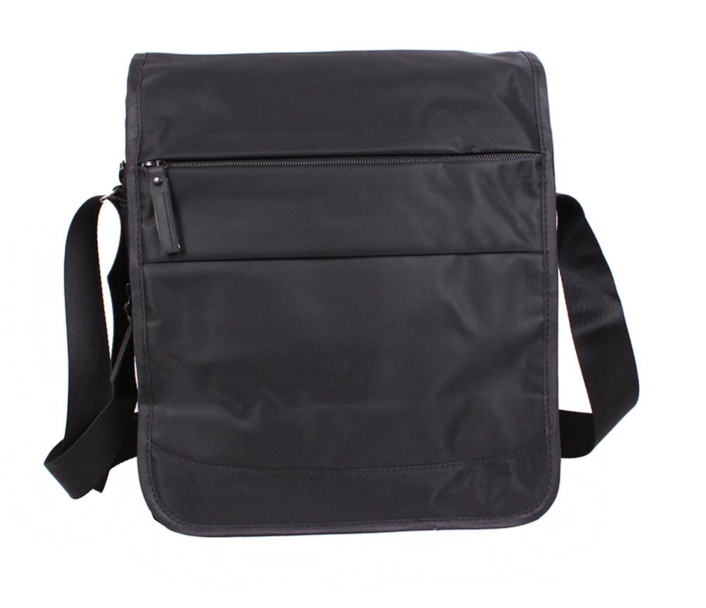 Вертикальная мужская тканевая сумка формата А4 черная PR8311-1А