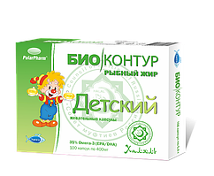 Рыбный жир пищевой Детский 400мг 100капс.