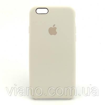 Силиконовый чехол iPhone 6 Plus/6S Plus, Apple silicone case (Крем)