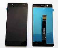 Оригинальный дисплей (модуль) + тачскрин (сенсор) для Nokia 3 Dual Sim | TA-1032 (черный цвет)