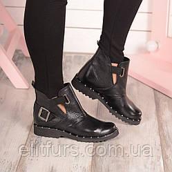 Ботинки открытый бок, черный