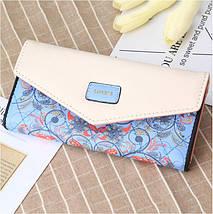 Красивый женский кошелёк с ярким принтом., фото 2