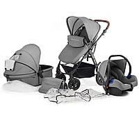 Детская коляска KinderKraft MOOV 3 в 1 серая
