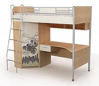 Кровать+стол+шкаф с рисунком М-16-2(m) Mega