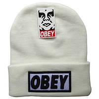 Шапка Obey белая с красным