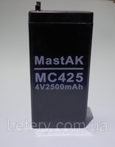 Акумулятор MastAK МС425 (4V 2,5 Ah)