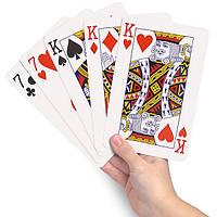 Игральные карты большие 20х13 см.