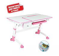 Детская парта для школьника с выдвижным ящиком ТМ FunDesk Amare with drawer Pink