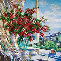 Набор для вышивки бисером Мини Море за окном (15 х 15 см) Абрис Арт AM-177