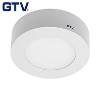 Светодиодный LED светильник GTV, 7W, 4000К, круглый, накладной, IP20, ORIS. ПОЛЬША!!! Гарантия - 3 года