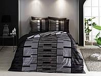 Двуспальное евро постельное белье TAC Jorney Gri Сатин-Delux