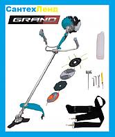 Коса бензиновая GRAND БГ-4700 (3 ножа ,2 катушки), фото 1