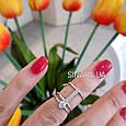 Кольцо на фалангу с одним камнем серебро, фото 2