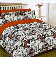 Полуторный комплект постельного белья 150х220из бязи Голд Старый Лондон (1.0)