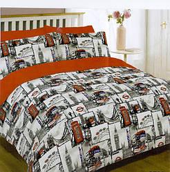 Полуторный комплект постельного белья 145х215 из бязи Голд Лондон Старый(1.0)