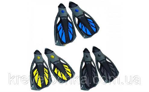 Ласты с закрытой пяткой (калоша цельная) 444 DORFIN PL-444 (р-р M(38-39 ) - XL(44-45), желтый, синий, черный), фото 2