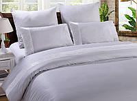 Двуспальный евро комплект постельного белья сатин с кружевомTM Bella Villa B-0072